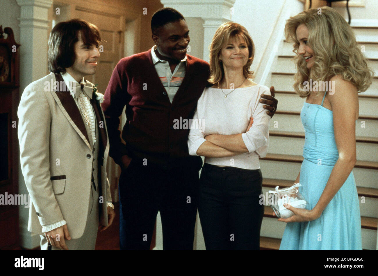 BEN STILLER, KEITH DAVID, MARKIE POST, CAMERON DIAZ, THERE'S SOMETHING ABOUT MARY, 1998 Stock Photo