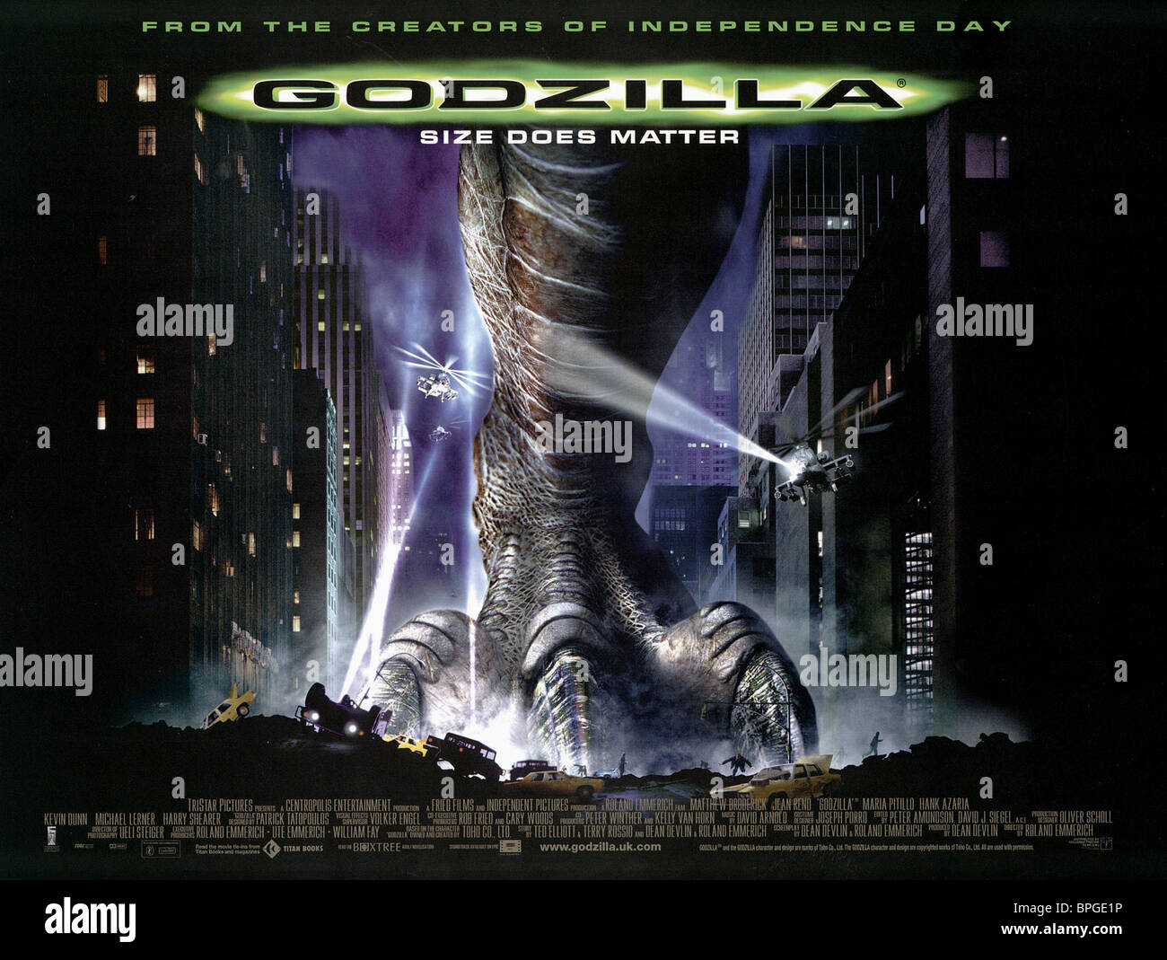 Film Poster Godzilla  1998 Stock Photo