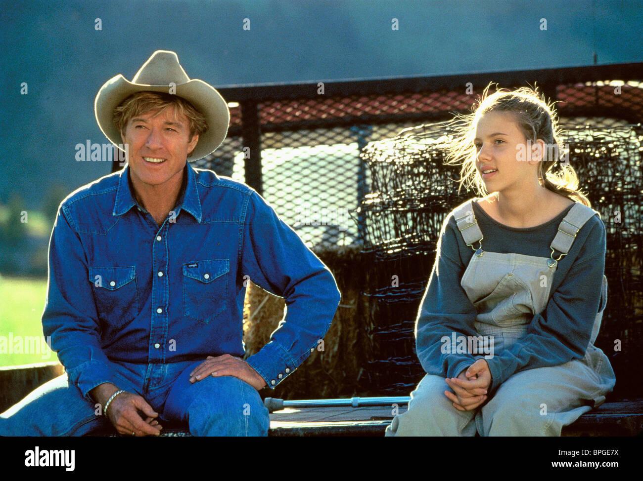 Robert Redford Scarlett Johansson The Horse Whisperer 1998 Stock Photo Alamy
