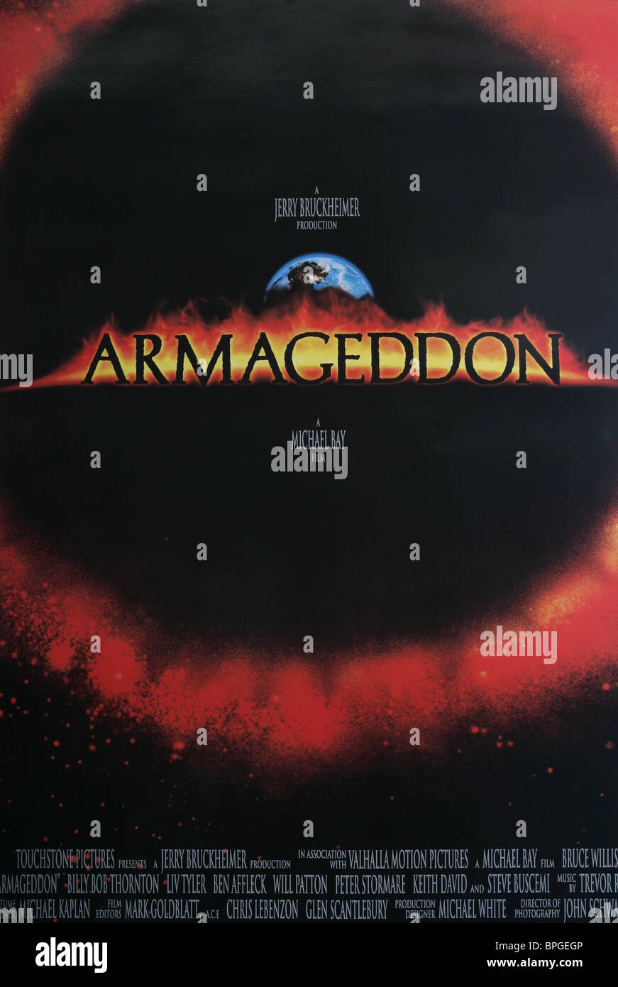 FILM POSTER ARMAGEDDON (1998) - Stock Image