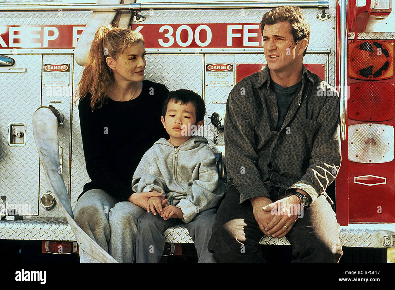 Rene Russo Steven Lam Mel Gibson Lethal Weapon 4 1998 Stock Photo Alamy