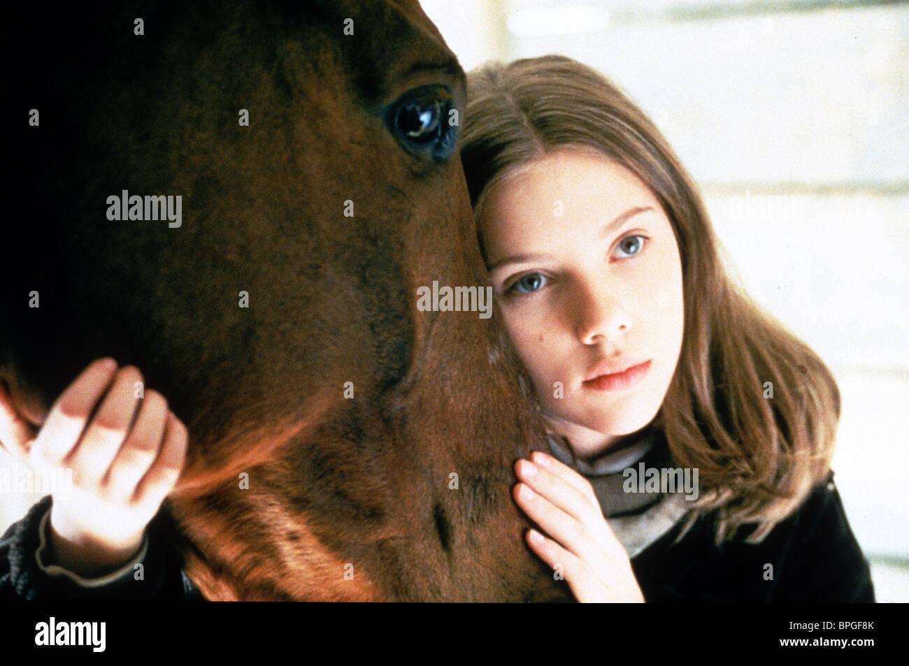 Scarlett Johansson The Horse Whisperer 1998 Stock Photo Alamy