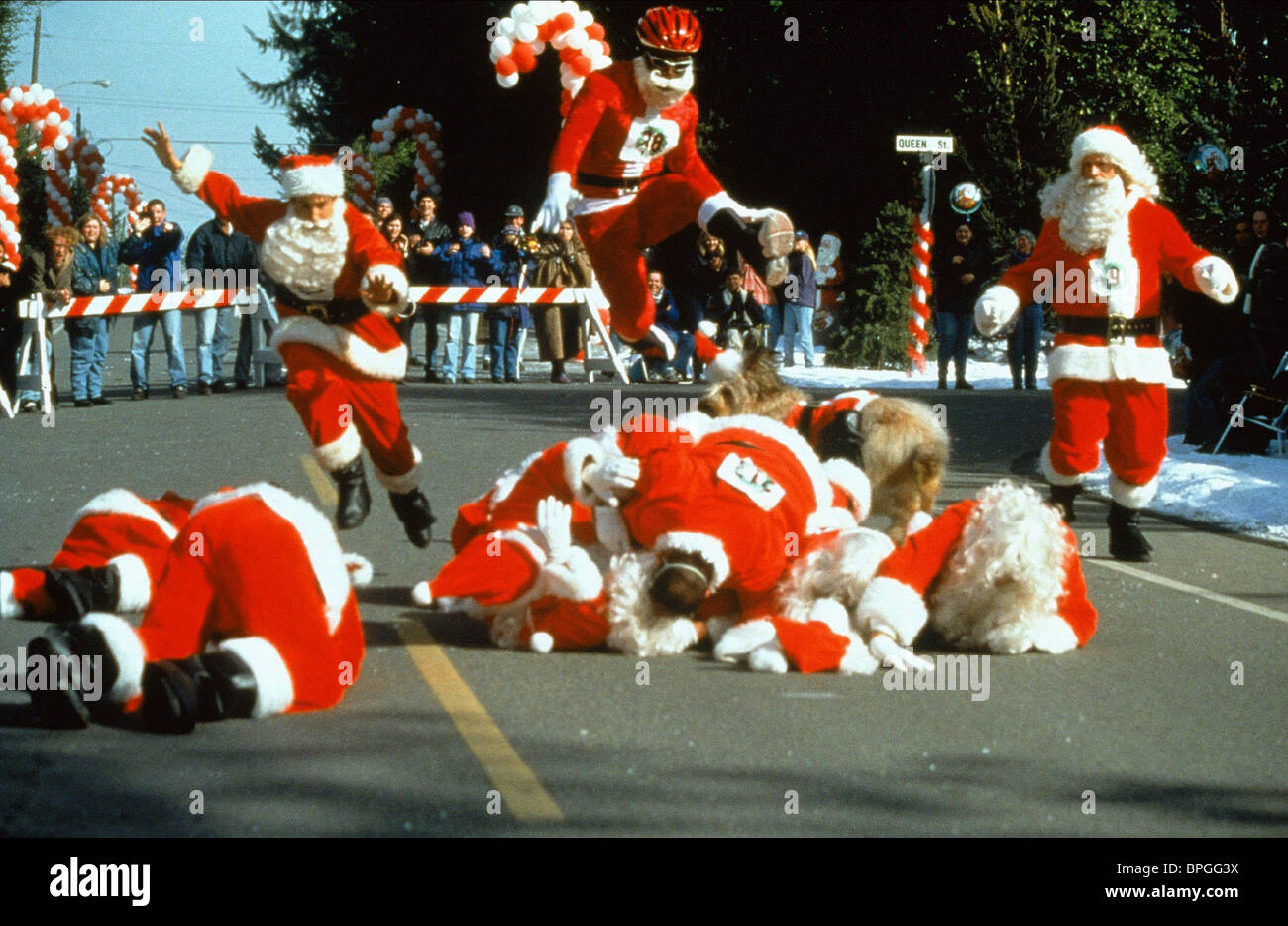 Ill Be Home For Christmas 1998.Santa Claus Race I Ll Be Home For Christmas 1998 Stock