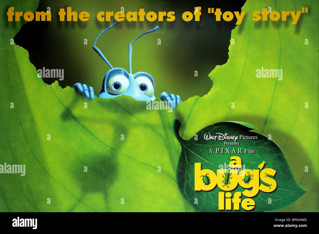 Flick Film Poster A Bug S Life 1998 Stock Photo Alamy
