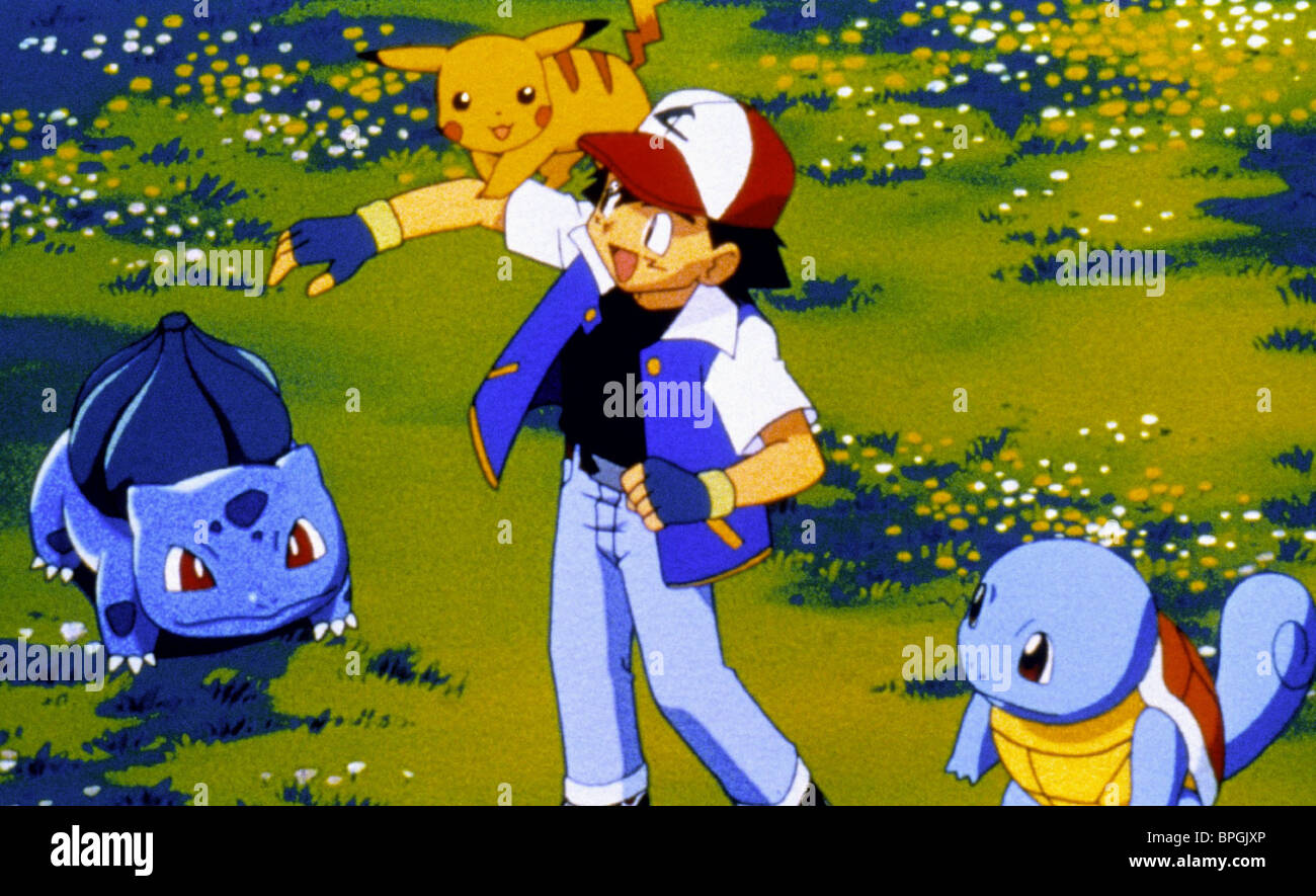 Pikachu Ash Pokemon The First Movie Mewtwo Strikes Back 1998