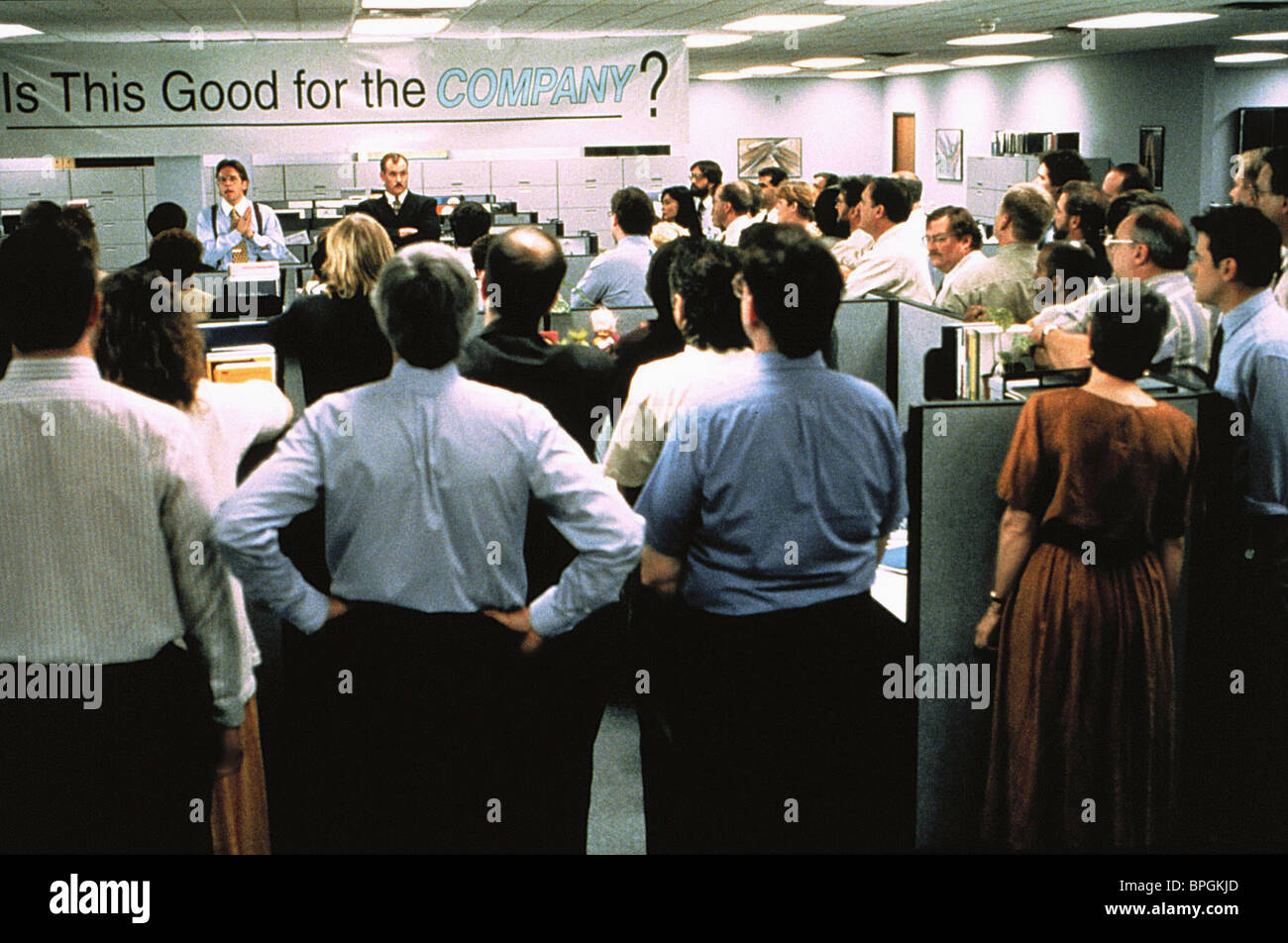 OFFICE MEETING SCENE OFFICE SPACE (1999) Stock Photo