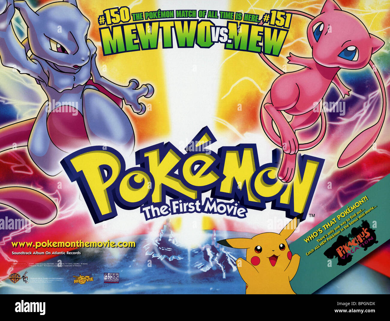 film poster pokemon the first movie 1999 stock photo 31100886 alamy