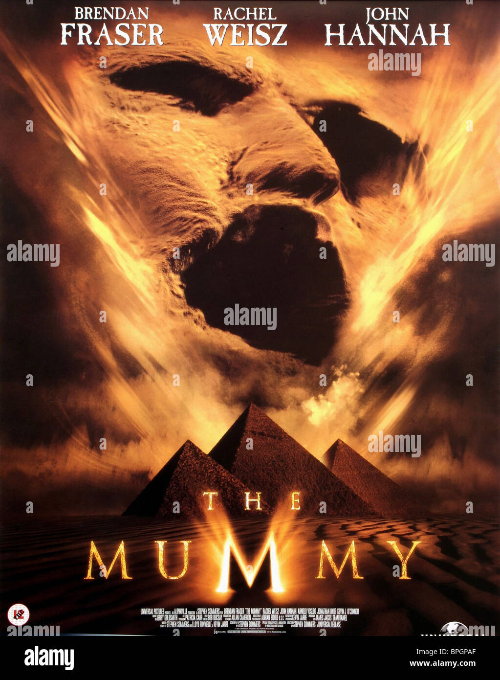Film Poster The Mummy 1999 Stock Photo Alamy