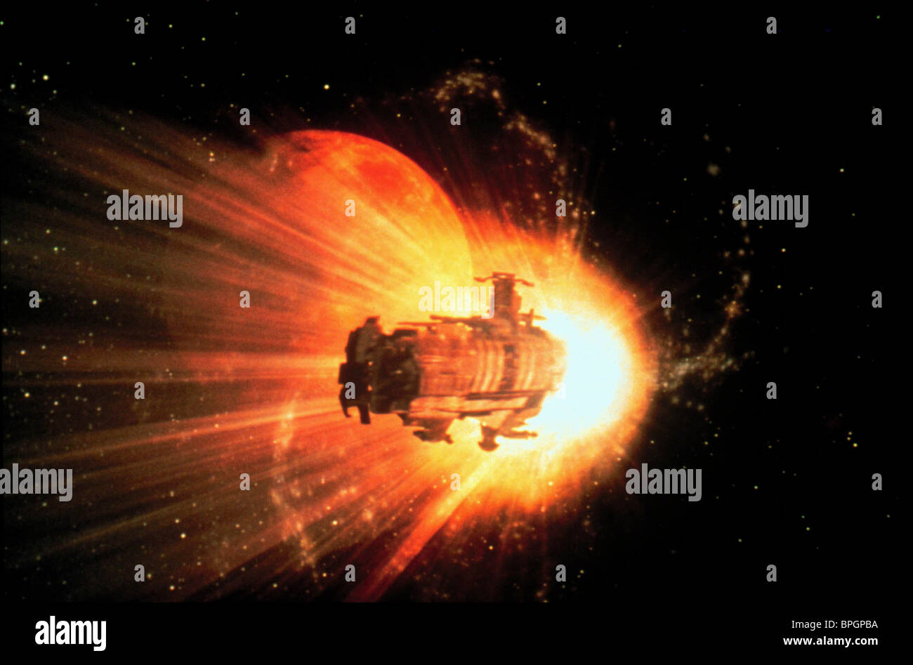 SPACESHIP SCENE WING COMMANDER (1999) - Stock Image