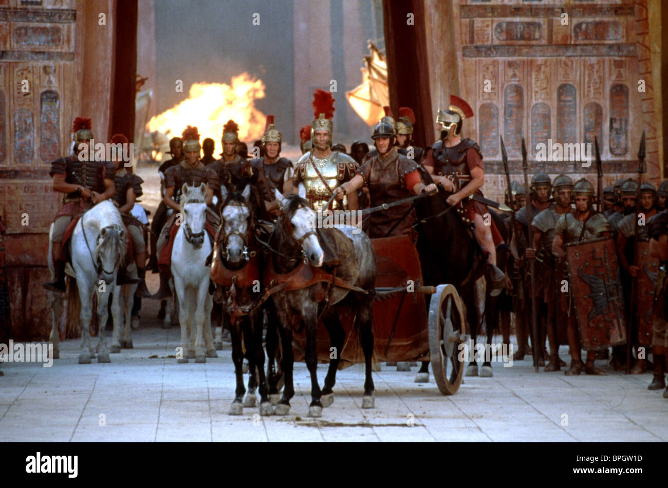 MOVIE SCENE CLEOPATRA (1999) - Stock Image
