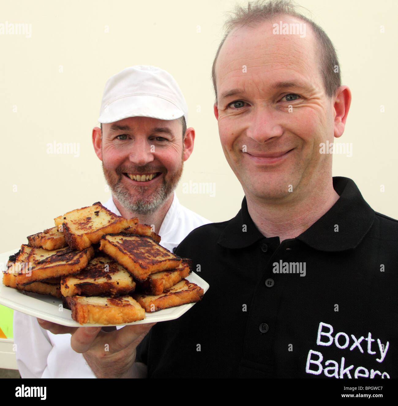 Boxty Bakers, Co. Leitrim, founder Stepher Hennessey and Chef Padraig Gunning - Stock Image