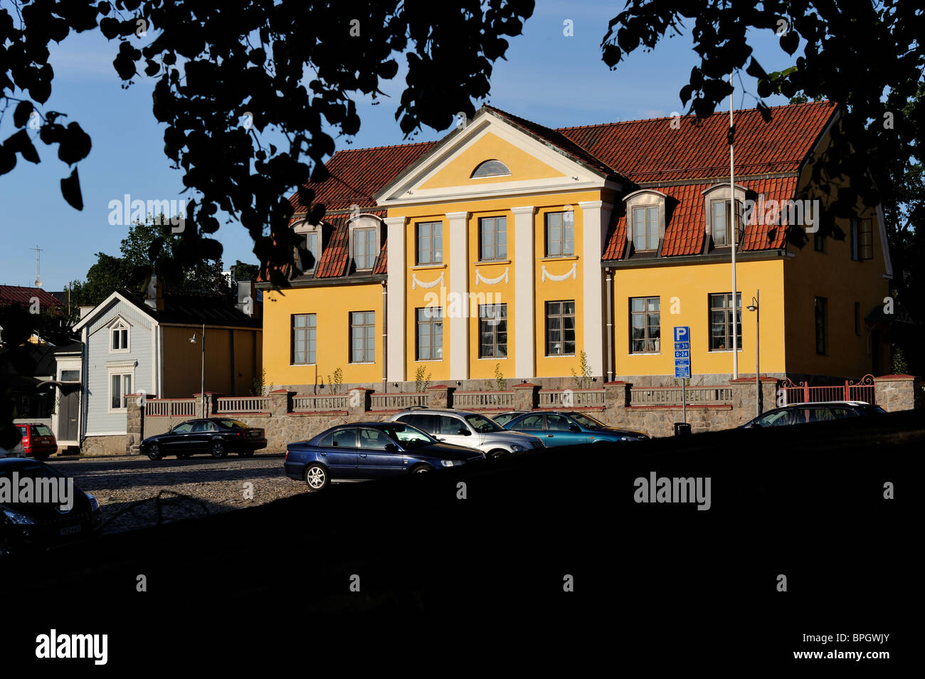 The Bishop's house of the Diocese of Borgå, Porvoo. The Diocese for Finland's Swedish speaking minority - Stock Image