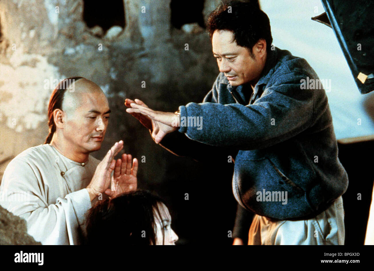 Chow Yun Fat Ang Lee Crouching Tiger Hidden Dragon 2000 Stock Photo Alamy