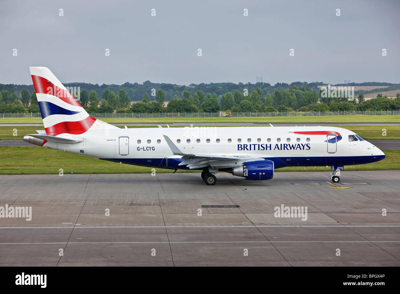 BA Cityflyer G-LCYG Embraer E170 STD at Edinburgh Airport - Stock Image