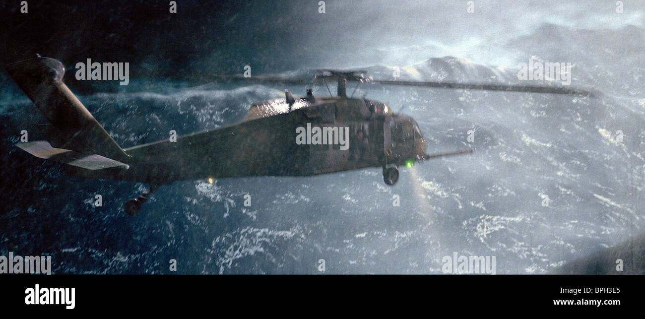 Helicopter In Storm The Perfect Storm 2000 Stock Photo Alamy