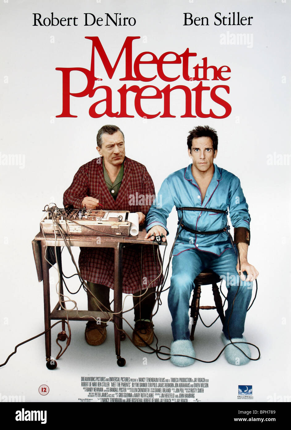 ROBERT DE NIRO & BEN STILLER POSTER MEET THE PARENTS (2000) - Stock Image
