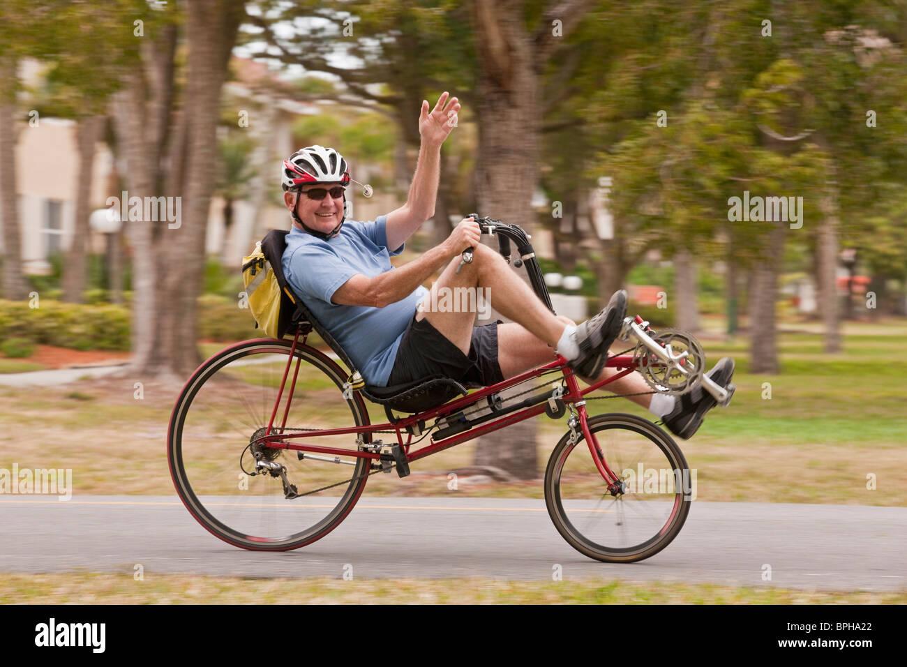 Recumbent Bike Stock Photos & Recumbent Bike Stock Images