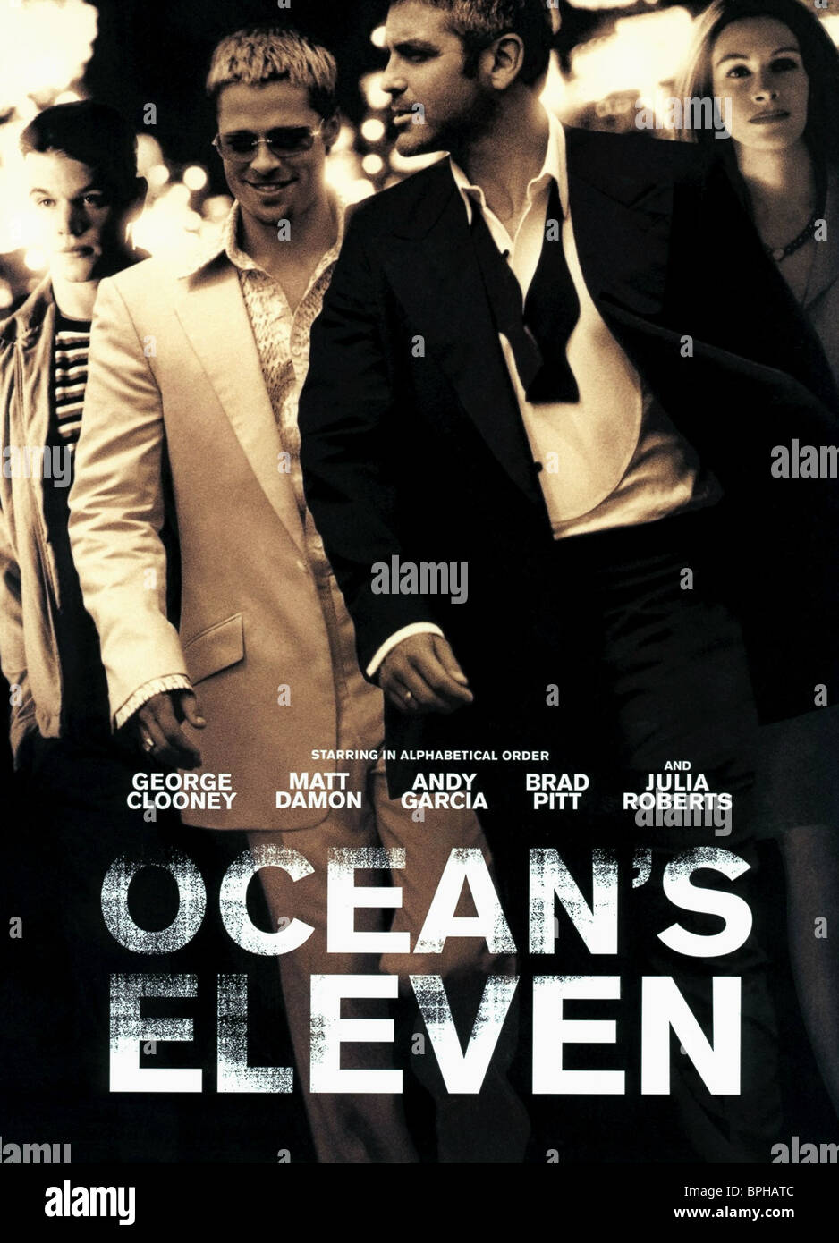 FILM POSTER OCEAN'S ELEVEN (2001) - Stock Image