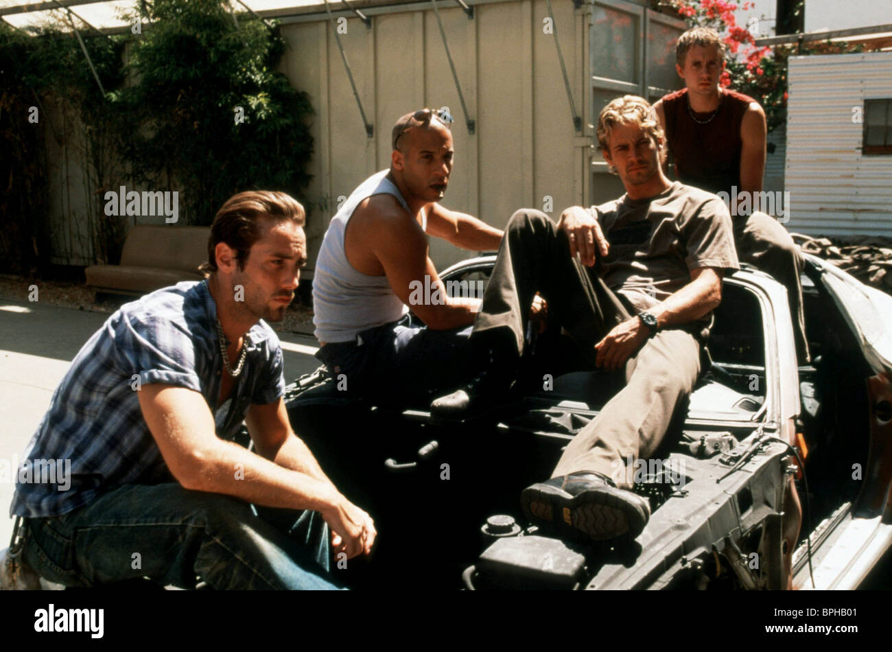 Johnny Strong Vin Diesel Paul Walker Chad Lindberg The Fast And Stock Photo Alamy