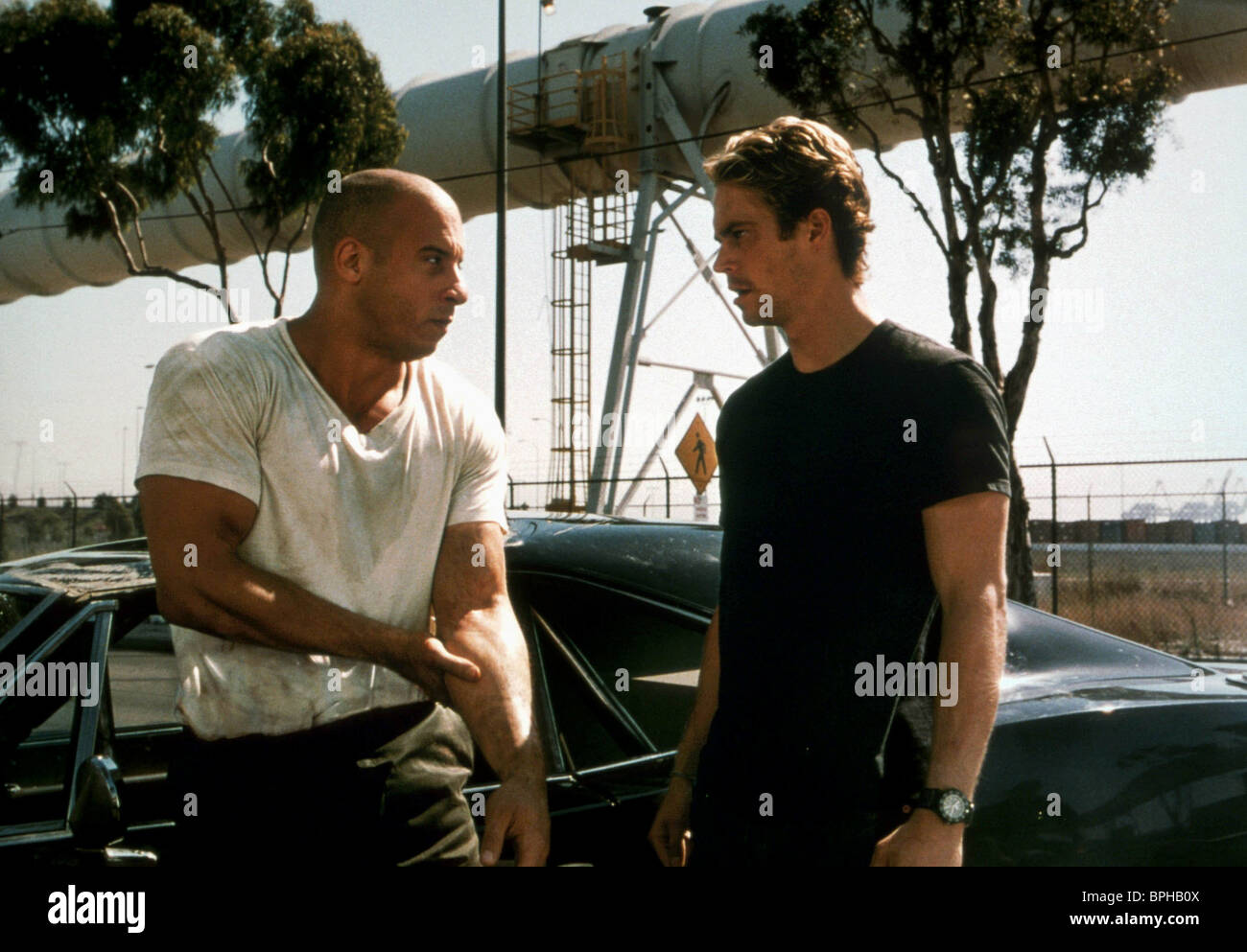 Vin Diesel Paul Walker The Fast And The Furious 2001 Stock Photo Alamy
