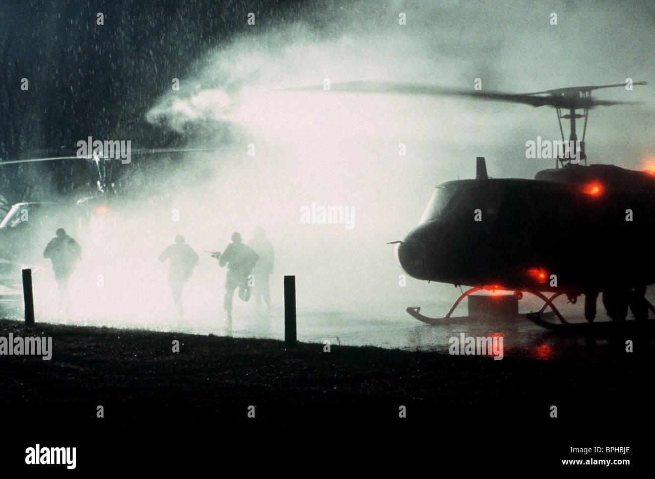 HELICOPTER SCENE SPY GAME (2001) - Stock Image