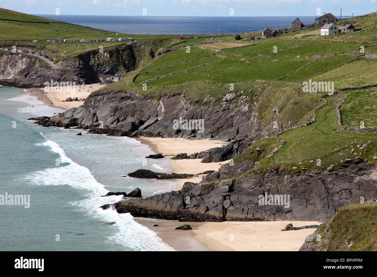 Ryans Daughter beach, Slea Head, Dingle Peninsula - Stock Image