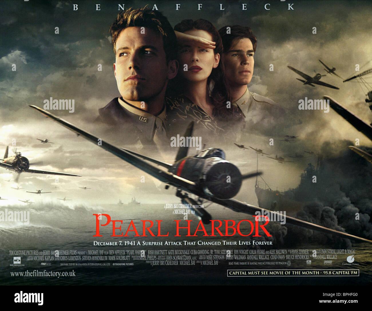 Ben Affleck Kate Beckinsale Josh Hartnett Poster Pearl Harbor Stock Photo Alamy