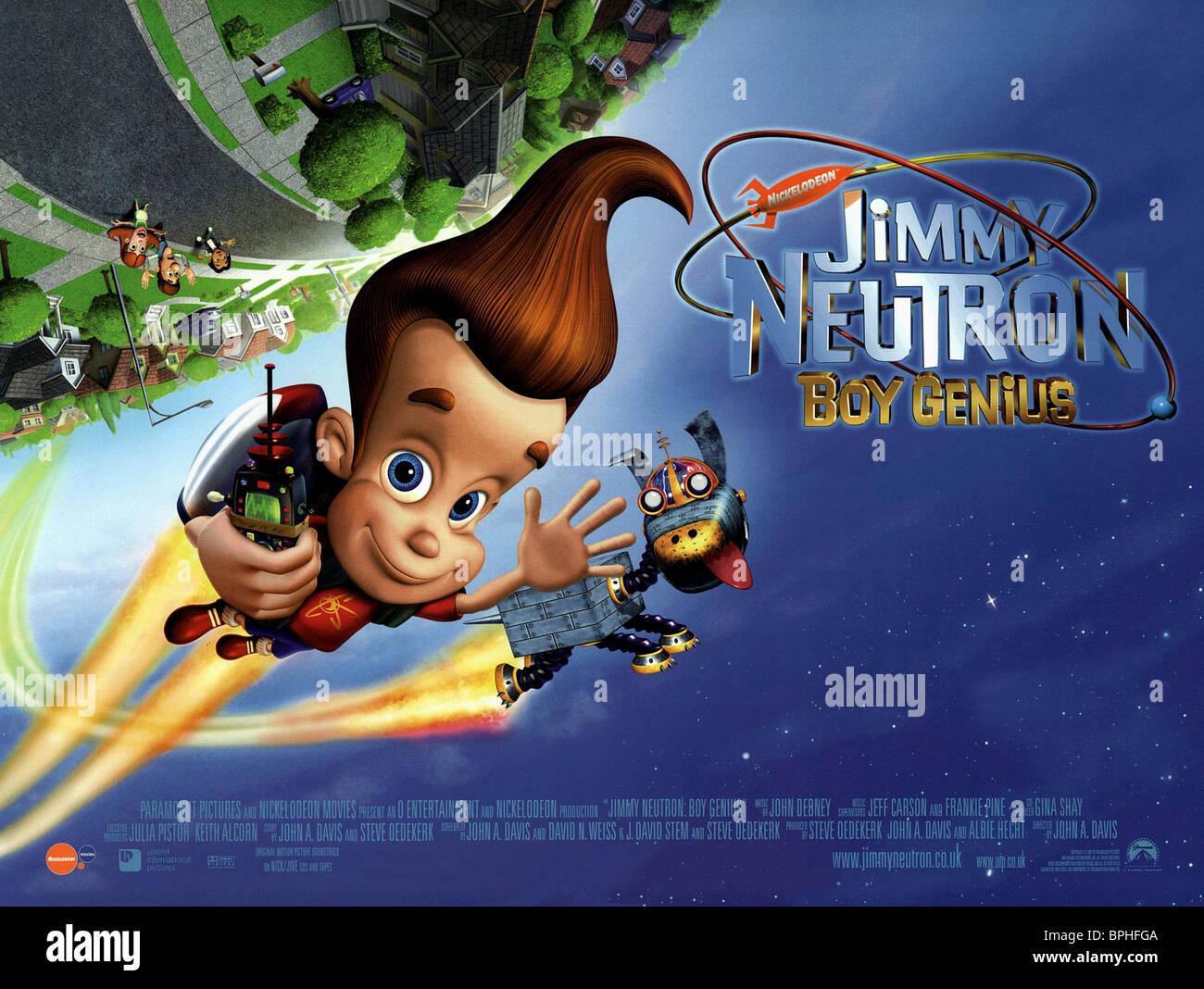 jimmy goddard jimmy neutron boy genius 2001 stock photo