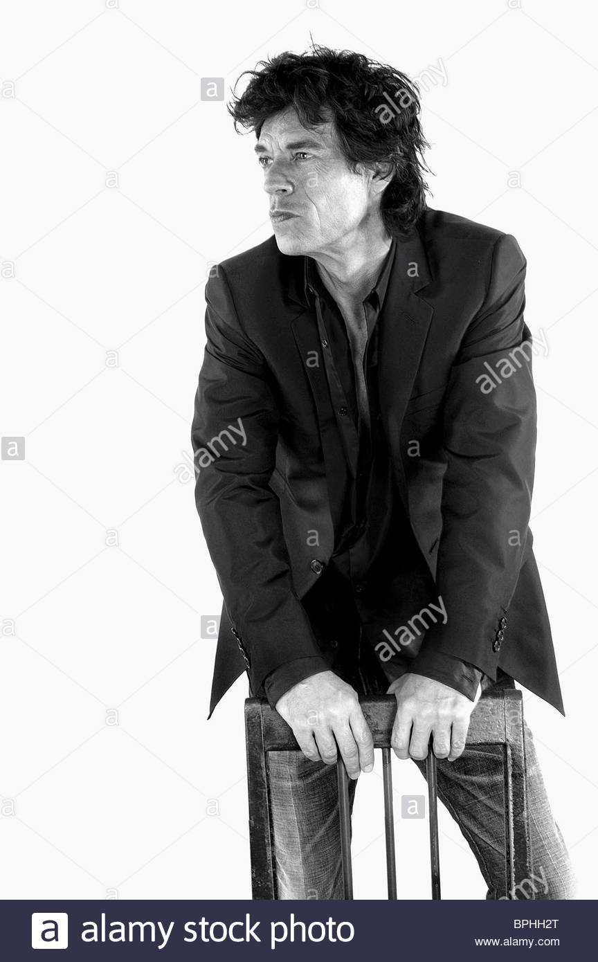 MICK JAGGER BEING MICK (2001) Stock Photo