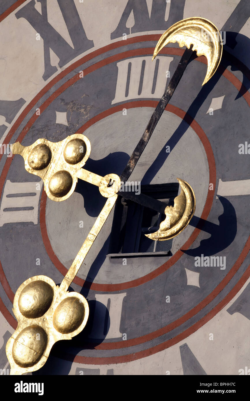Uhrturm Clock Tower, Schloßberg, Graz, Styria, Austria Stock Photo