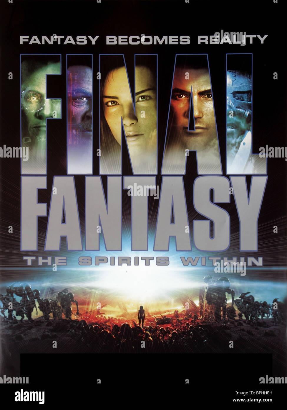 FILM POSTER FINAL FANTASY: SPIRITS WITHIN (2001) - Stock Image