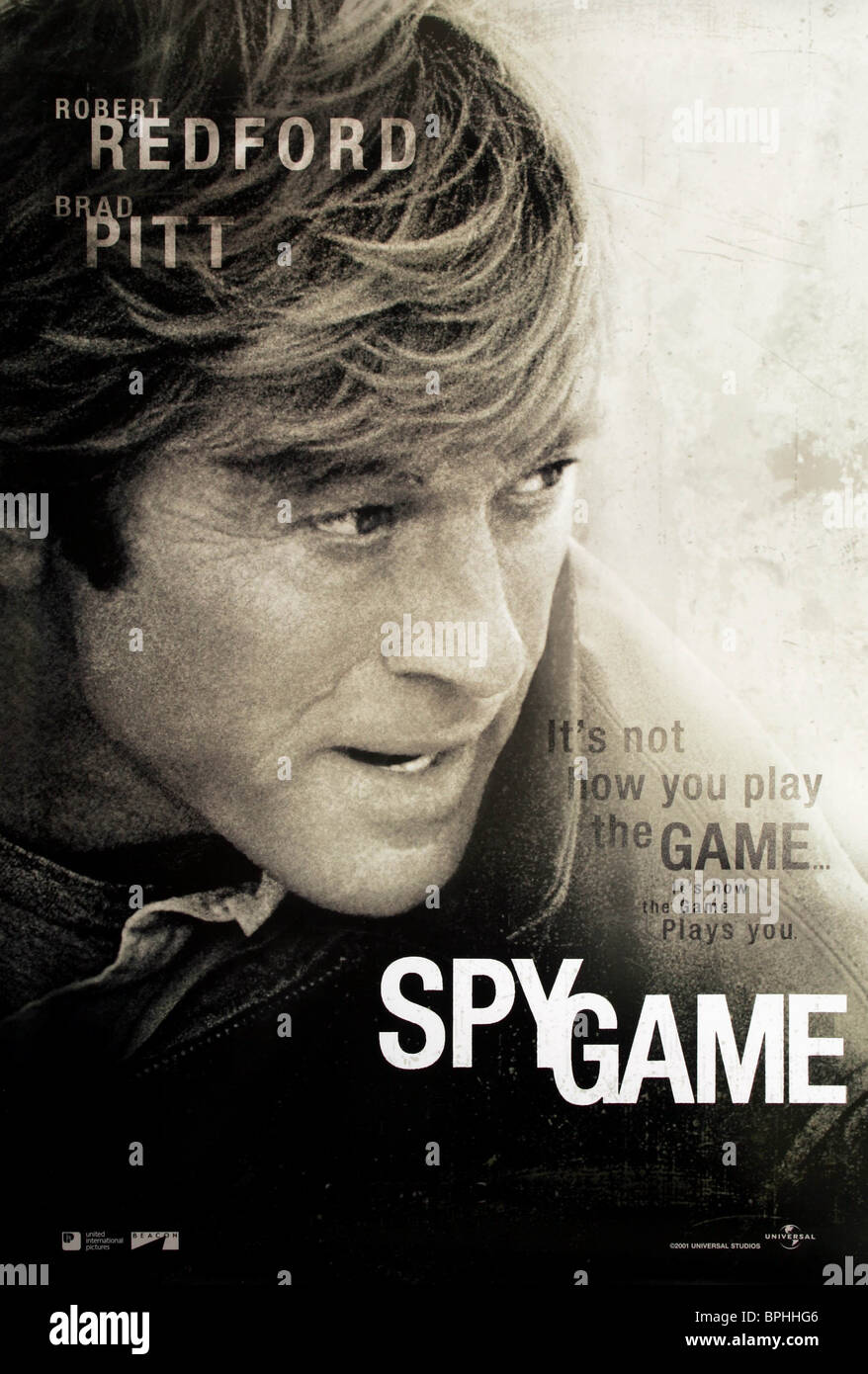 ROBERT REDFORD FILM POSTER SPY GAME (2001) - Stock Image