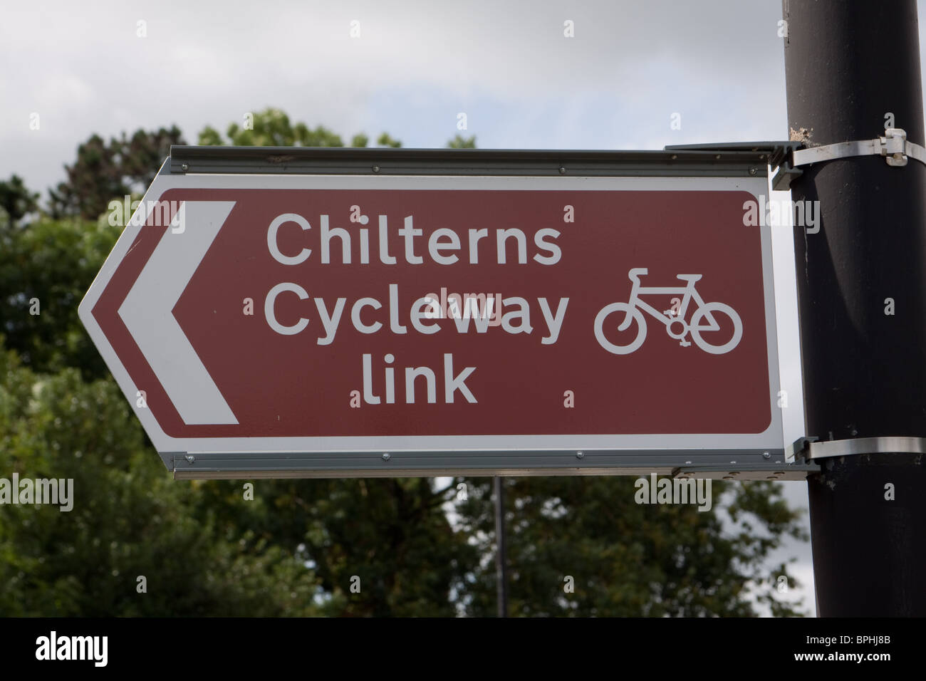 Chilterns Cycleway Link sign - Stock Image