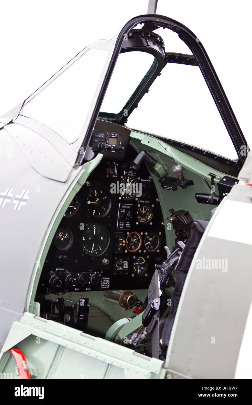Spitfire cockpit - Stock Image