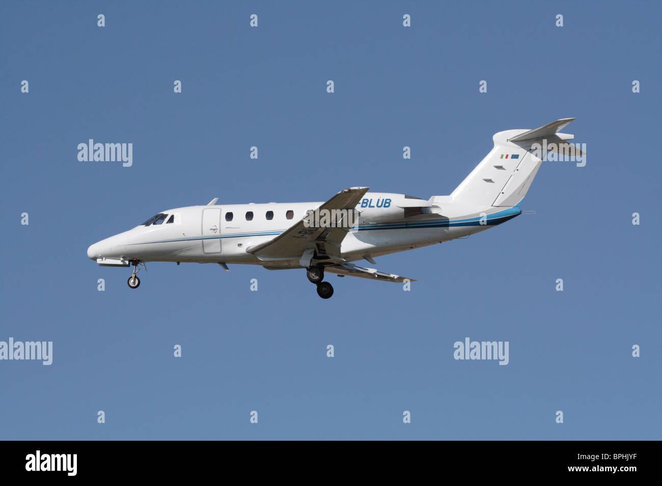 Cessna Citation VI business jet on arrival - Stock Image