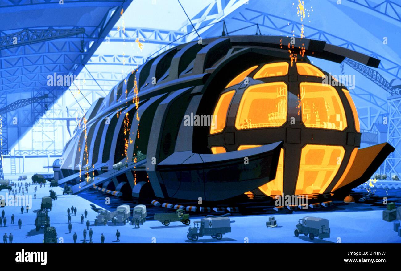 ULYSSES SUBMARINE HANGER SCENE ATLANTIS: THE LOST EMPIRE (2001) - Stock Image