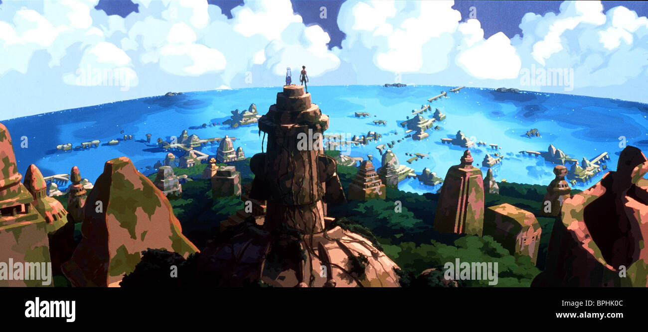 ANCIENT CITY OF ATLANTIS ATLANTIS: THE LOST EMPIRE (2001) - Stock Image