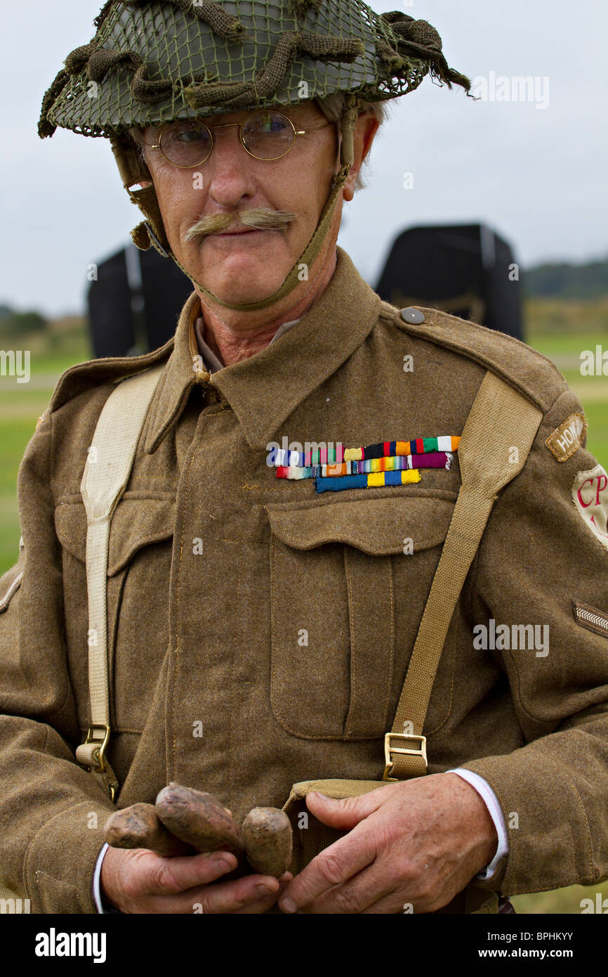 7e8b3b3a Actor playing the part of Corporal Jones from Dad's Army - Stock Image
