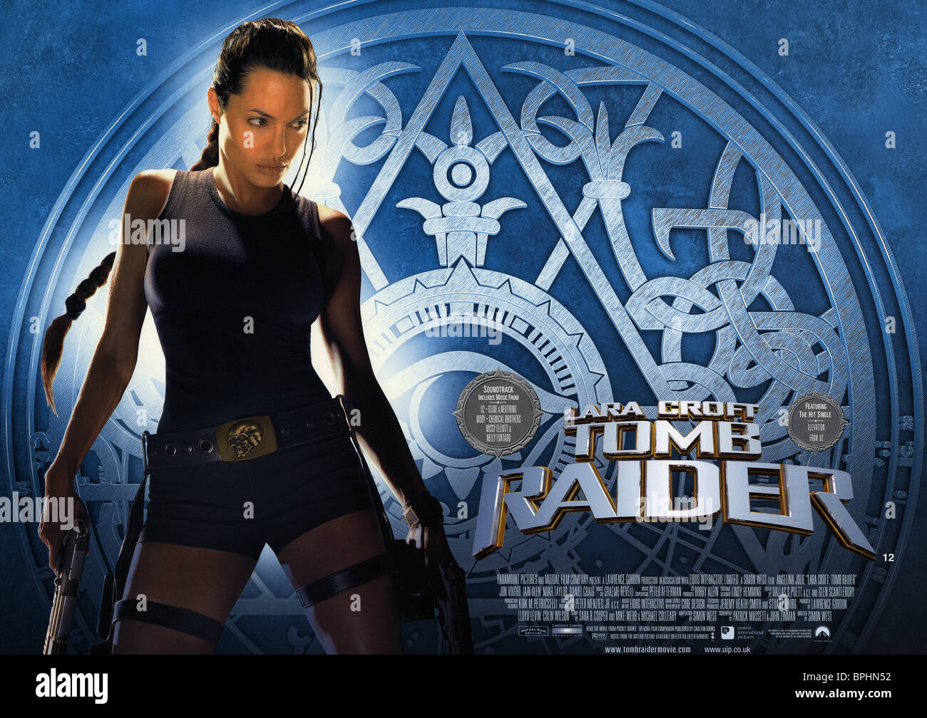 Movie Poster Film Title Lara Croft Stock Photos Movie