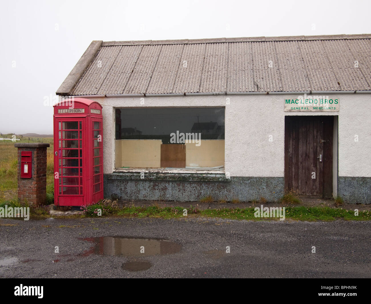 Derelict Shop, South Uist, Outer Hebrides Stock Photo
