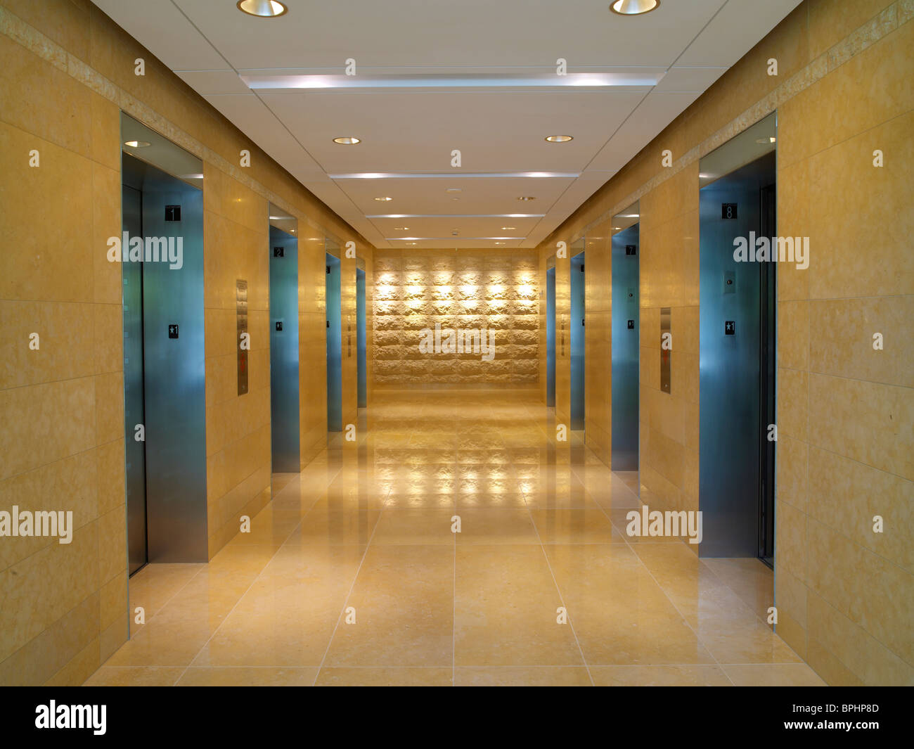 Elevator Lobby, Baltimore, USA - Stock Image