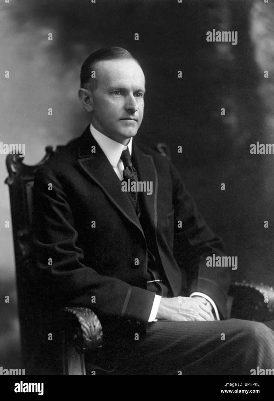 Portrait photo circa 1919 of Calvin Coolidge (1872 - 1933) - the 30th US President (1923 - 1929). Stock Photo