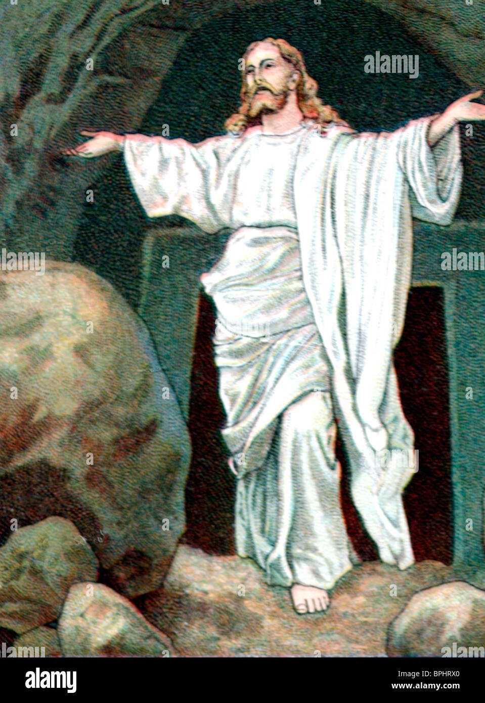the resurrection of christ jesus outside the tomb in jerusalem