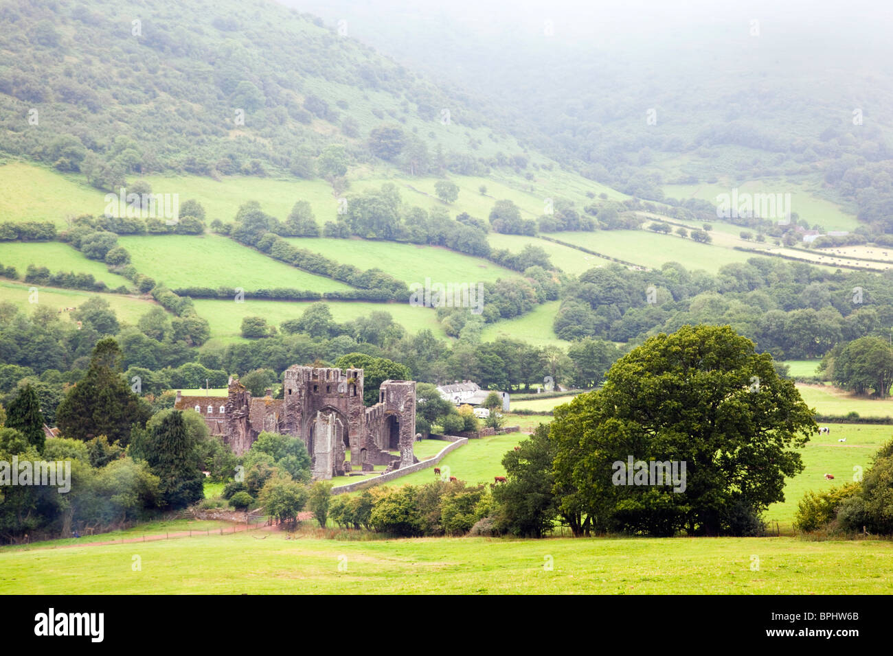 Llanthony Priory; Brecon Beacons; Wales - Stock Image