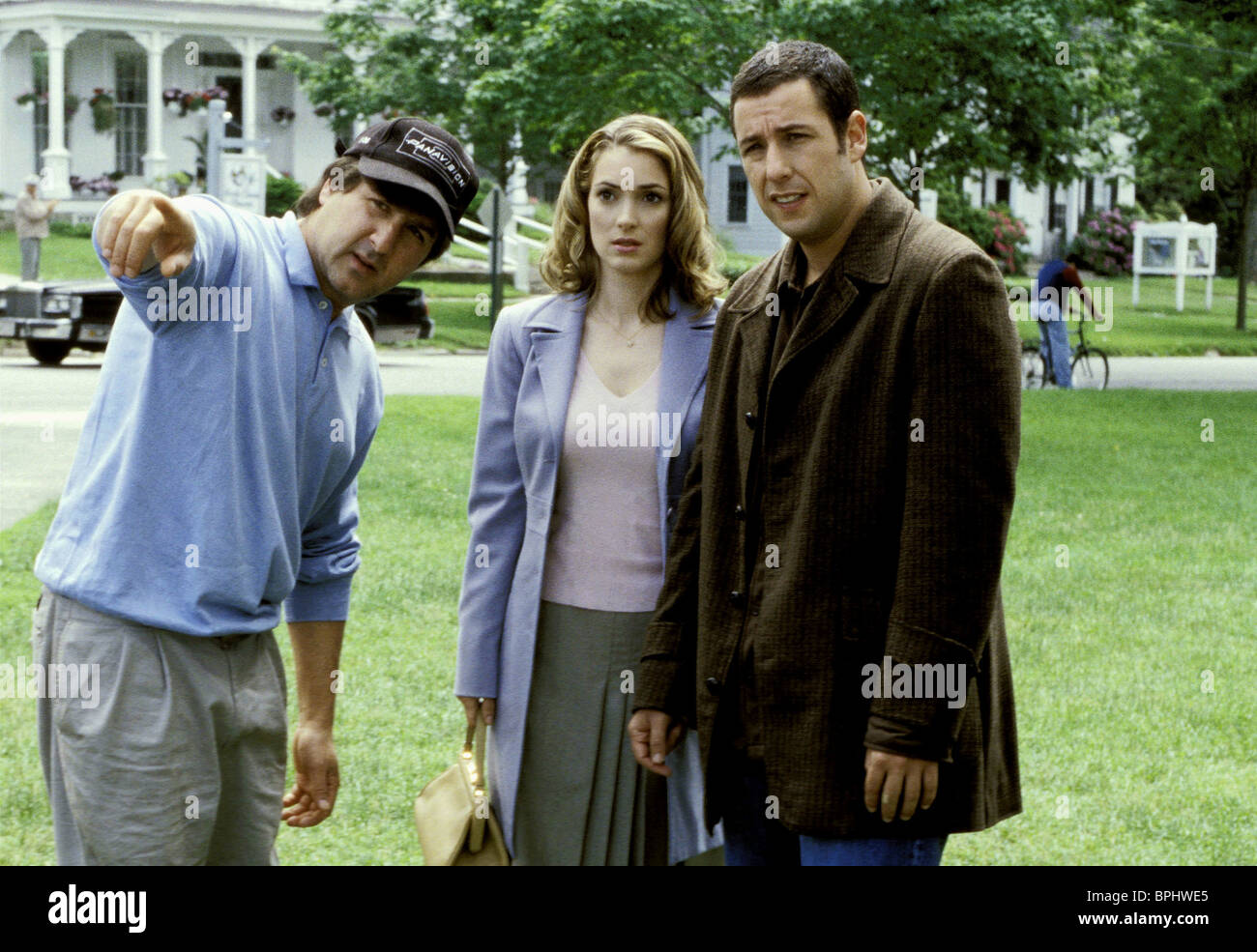 Steve Brill Winona Ryder Adam Sandler Mr Deeds 2002 Stock Photo Alamy