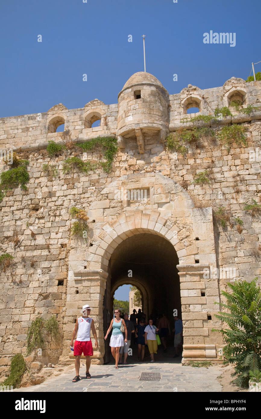 Entrance gateway to Rethymno Fort, Crete, Greece Stock Photo