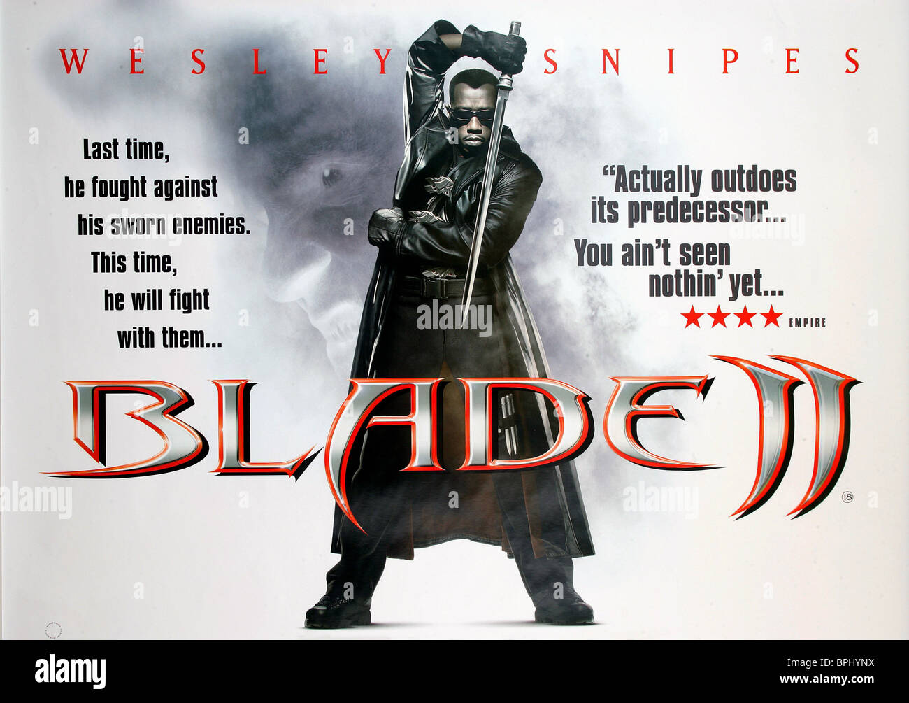 Wesley Snipes Film Poster Blade Ii 2002 Stock Photo Alamy