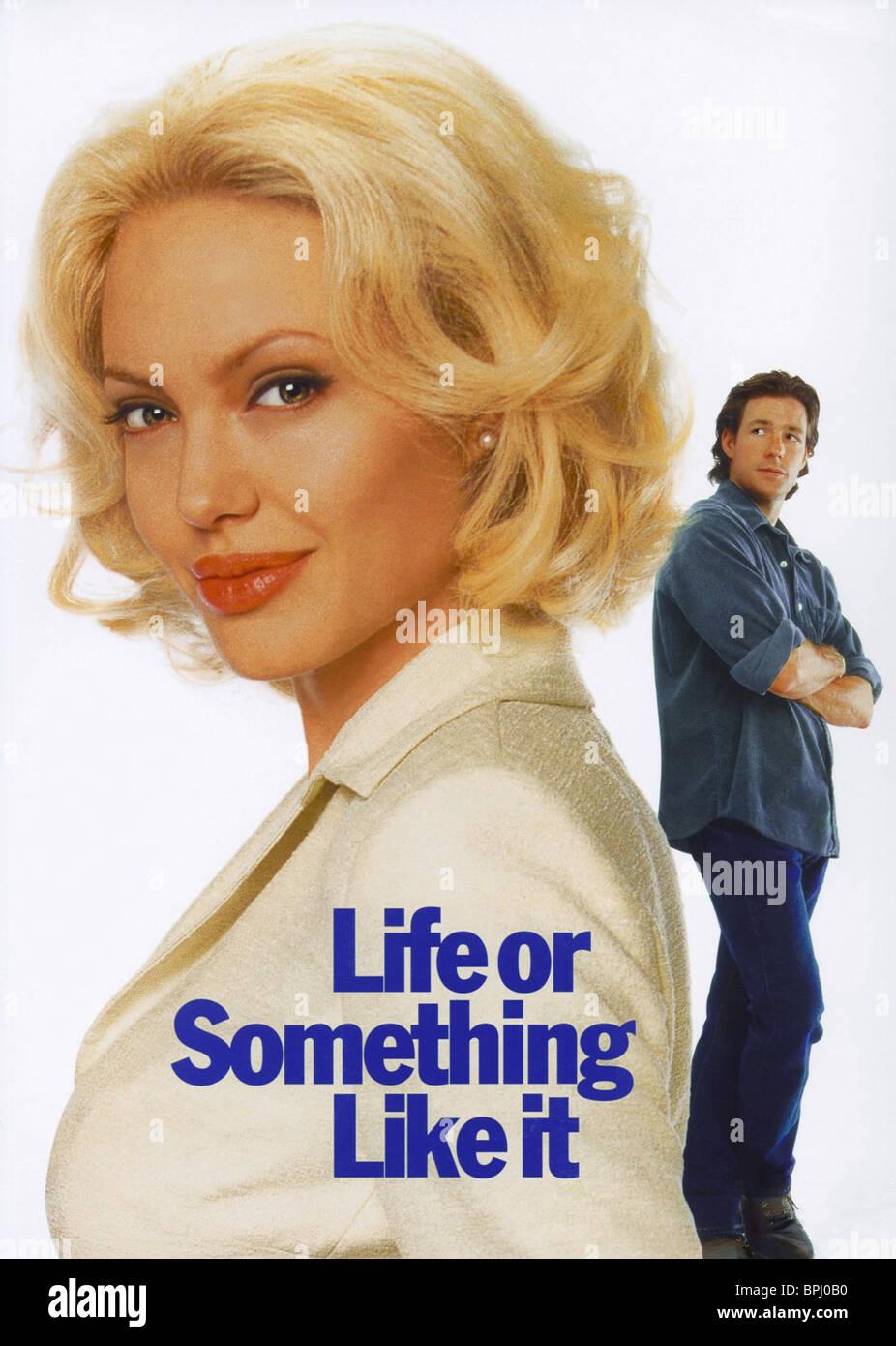 ANGELINA JOLIE & EDWARD BURNS FILM ARTWORK LIFE OR SOMETHING LIKE IT (2002)Stock Photo