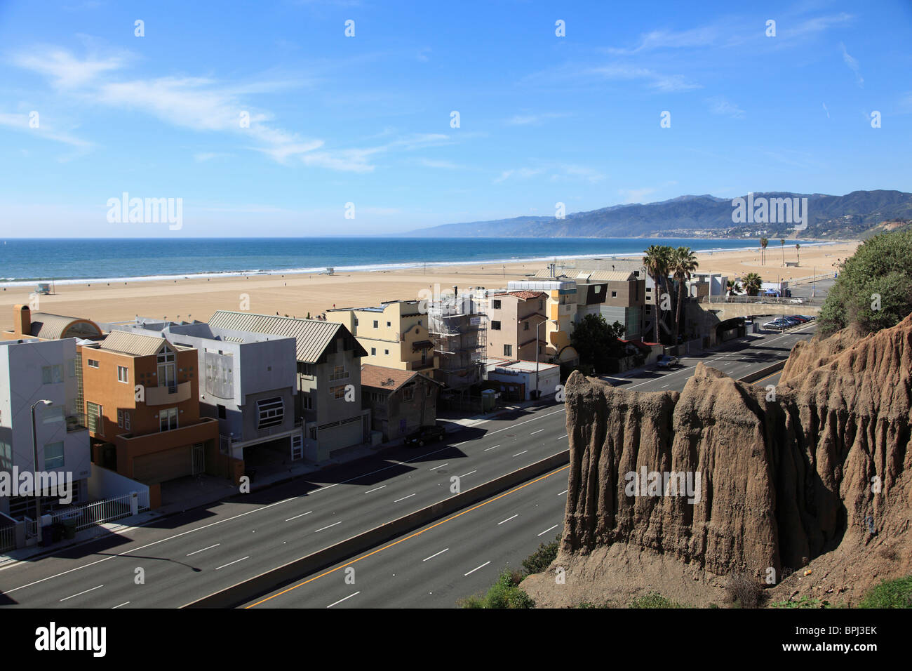 Pacific Coast Highway, Santa Monica, Los Angeles, California, United States of America, North America - Stock Image