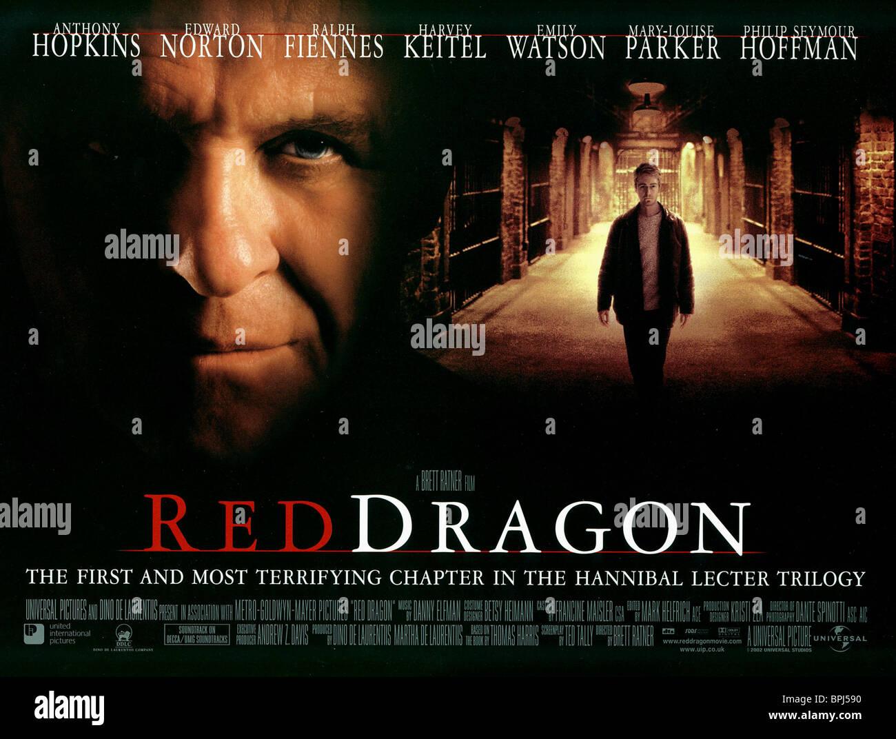 Anthony Hopkins Edward Norton Red Dragon 2002 Stock Photo Alamy